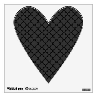 Black and Grey Quatrefoil Pattern Wall Decal