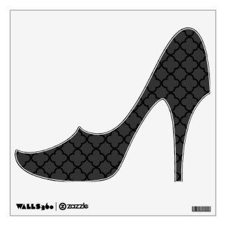 Black and Grey Quatrefoil Pattern Wall Sticker