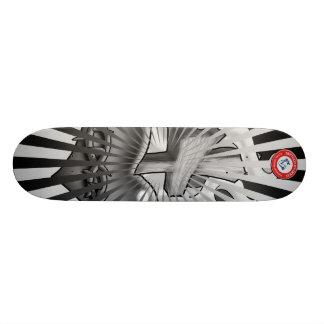 Black and Grey Sacred Heart Skateboard Deck