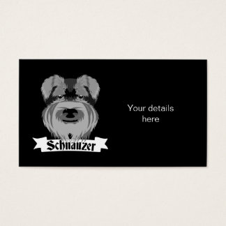 Black and Grey Schnauzer Business Card