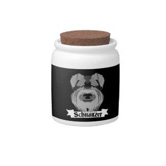 Black and Grey Schnauzer Candy Jars
