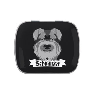 Black and Grey Schnauzer Jelly Belly Candy Tins