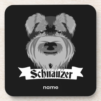 Black and Grey Schnauzer Coaster