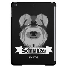 Black And Grey Schnauzer Cover For Ipad Air at Zazzle