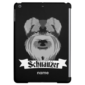 Black and Grey Schnauzer Cover For iPad Air