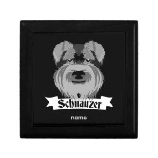 Black and Grey Schnauzer Trinket Box