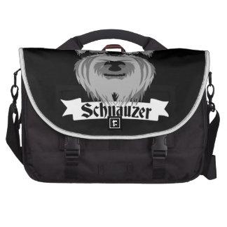 Black and Grey Schnauzer Computer Bag