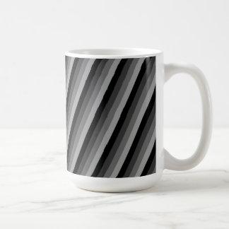 Black and Grey Striped Coffee Mug