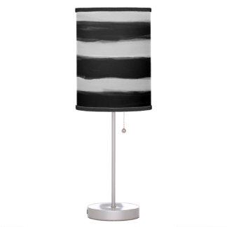 Black and Grey Stripes Desk Lamp