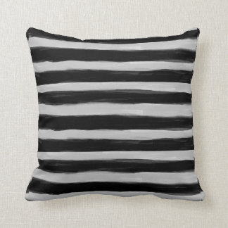 Black and Grey Stripes Pillow