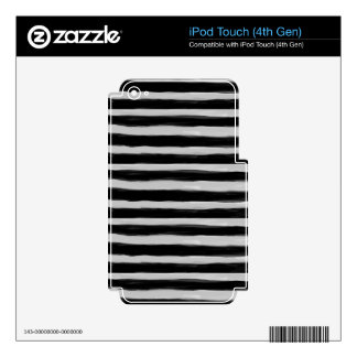 Black and Grey Stripes iPod Touch 4G Skin