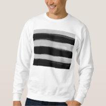 Black and Grey Stripes Sweatshirt