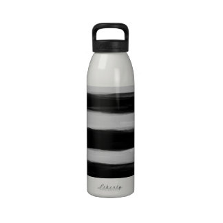 Black and Grey Stripes Reusable Water Bottles