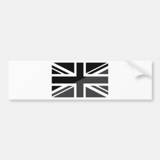 Black and grey Union Jack British(UK) Flag Bumper Sticker