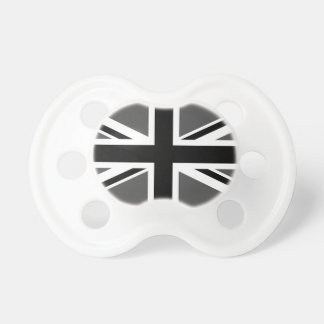 Black and Grey Union Jack Pacifiers