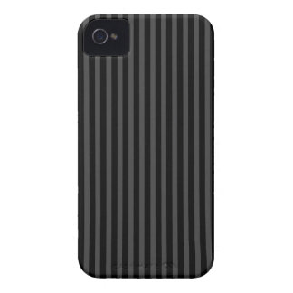 Black and grey vertical stripes iPhone 4 case