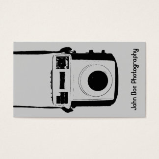 Black and Grey Vintage Camera Business Card