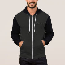 Black and Grey Zipper Hoodie With GB Name on Front