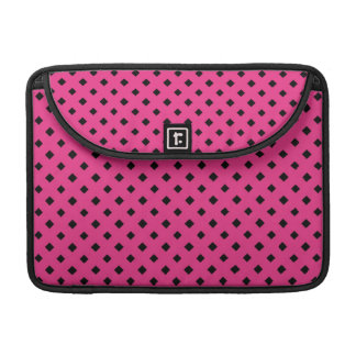 """Black and Hot Pink Diamond Pattern 13"""" Sleeve For MacBook Pro"""