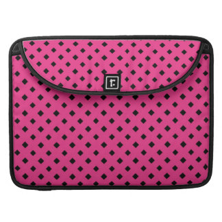 """Black and Hot Pink Diamond Pattern 15"""" Sleeves For MacBooks"""