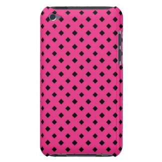 Black and Hot Pink Diamond Pattern Barely There iPod Case