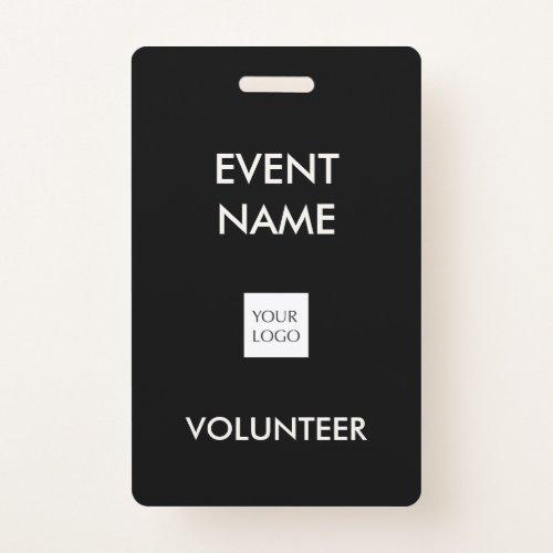 Black and Ivory Event Volunteer Logo Badge