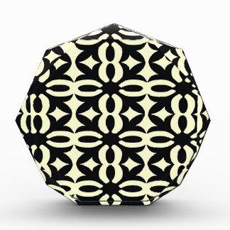 Black and Ivory Lace Acrylic Award