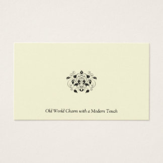 Black and Ivory Pearl Business Card