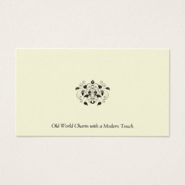 Professional Business Black and Ivory Pearl Business Card