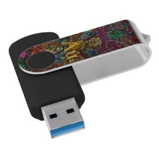 Black and Jewel-toned USB Drive