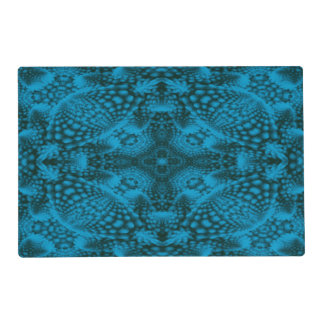 Black And   Kaleidoscope    Colorful Placemats