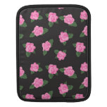 Black and large pink rose iPad / iPad 2 sleeve iPad Sleeve
