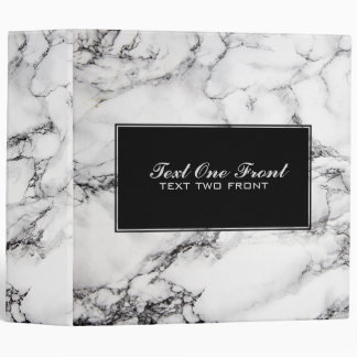 Black And Light Gray Marble Stone Binder