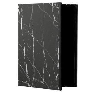 Black And Light Gray Marbled Stone Pattern Powis iPad Air 2 Case