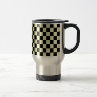 Black and Light green Square Travel Mug
