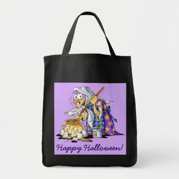 Halloween Themed Black And Lilac Halloween Treat Bags Purple Witch
