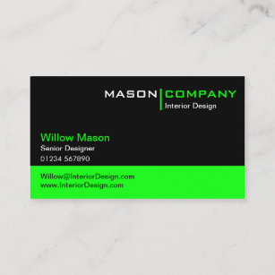 Lime green business cards zazzle black and lime green corporate business card reheart