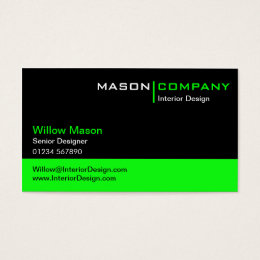 Lime green business cards templates zazzle black and lime green corporate business card reheart Images