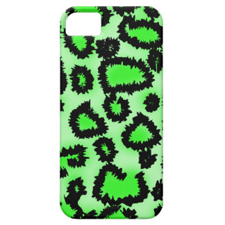 Black and Lime Green Leopard Print Pattern. iPhone SE/5/5s Case