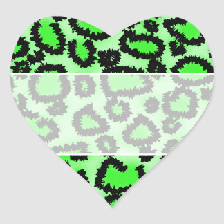 Black and Lime Green Leopard Print Pattern Sticker