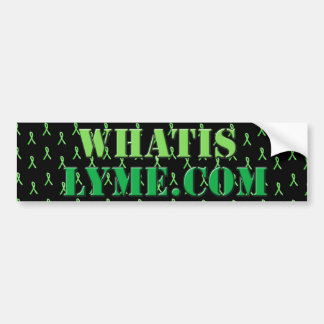 Black and Lime green Lyme Disease Awareness Bumper Bumper Sticker