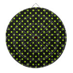 Black and Lime Green Polka Dot Dart Boards
