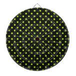 Black and Lime Green Polka Dot Dart Boards