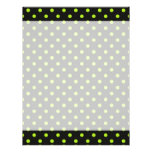Black and Lime Green Polka Dot Customized Letterhead