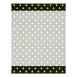 Black and Lime Green Polka Dot Customized Letterhead