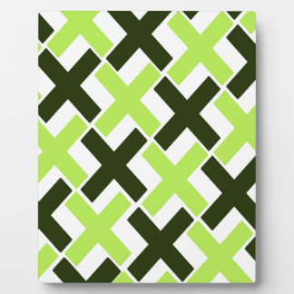 Black and Lime Green Xs Plaque