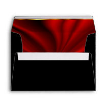Black and Lined Red Satin Envelope