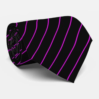 Black and Magenta Pinstripe Tie