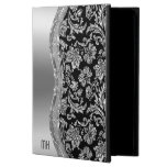Black And Metallic Faux Silver Damasks Powis iPad Air 2 Case