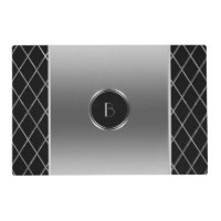 Black And Metallic Silver Geometric Design Placemat